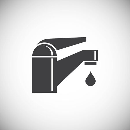 Faucet related icon on background for graphic and web design. Simple illustration. Internet concept symbol for website button or mobile app Illustration