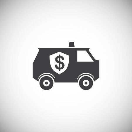 Money security related icon on background for graphic and web design. Simple illustration. Internet concept symbol for website button or mobile app