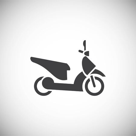 motorcycle related icon on background for graphic and web design. Simple illustration. Internet concept symbol for website button or mobile app Banque d'images - 127513721