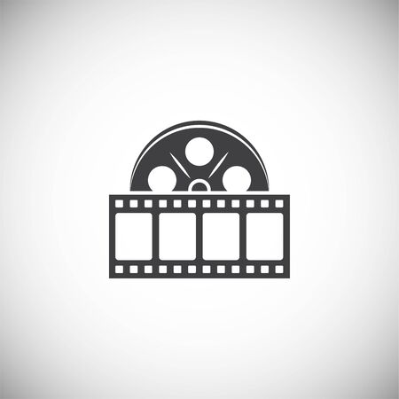 Film strip related icon on background for graphic and web design. Simple illustration. Internet concept symbol for website button or mobile app
