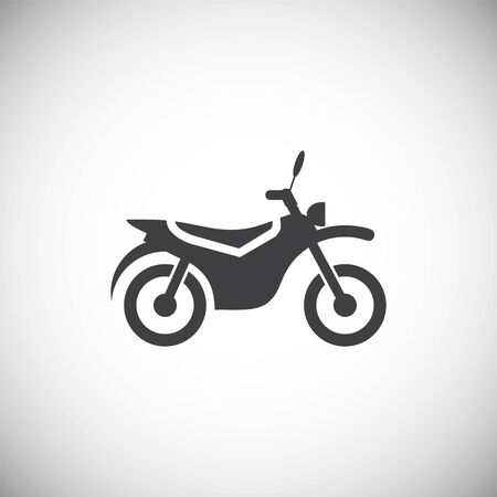 motorcycle related icon on background for graphic and web design. Simple illustration. Internet concept symbol for website button or mobile app