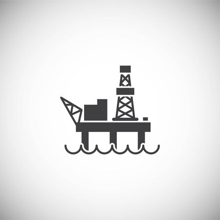 Oil rig related icon on background for graphic and web design. Simple illustration. Internet concept symbol for website button or mobile app