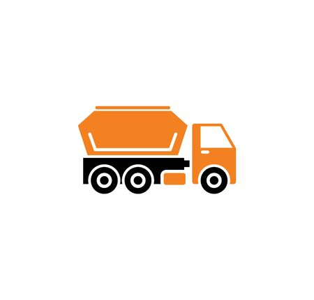 Heavy vehicle related icon on background for graphic and web design. Simple illustration. Internet concept symbol for website button or mobile app