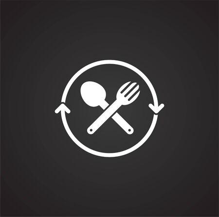 Plastic related icon on background for graphic and web design. Simple illustration. Internet concept symbol for website button or mobile app Vektoros illusztráció