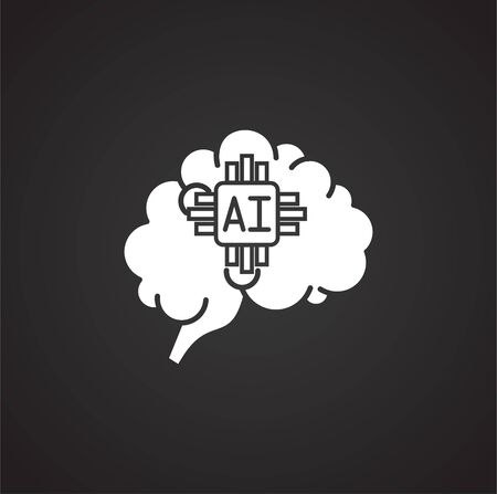 Artificial Intelligence Ai related icon on background for graphic and web design. Simple illustration. Internet concept symbol for website button or mobile app