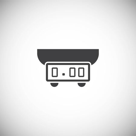 Scale icon on background for graphic and web design. Simple illustration. Internet concept symbol for website button or mobile app