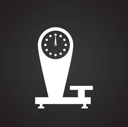 Scale related icon on background for graphic and web design. Simple illustration. Internet concept symbol for website button or mobile app