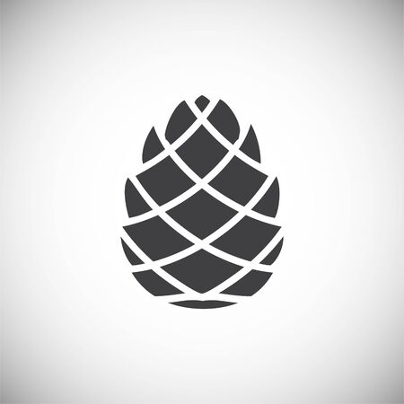 Pine cone icon on background for graphic and web design. Simple illustration. Internet concept symbol for website button or mobile app