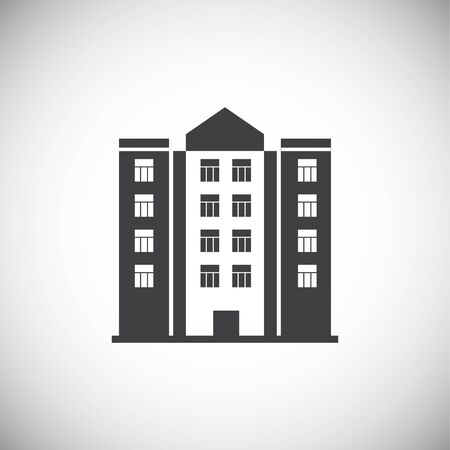 Real estate icon on background for graphic and web design. Simple illustration. Internet concept symbol for website button or mobile app