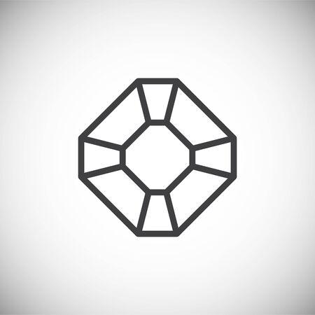 Icône de pierre précieuse sur fond pour la conception graphique et web. Illustration simple. Symbole de concept Internet pour le bouton de site Web ou l'application mobile
