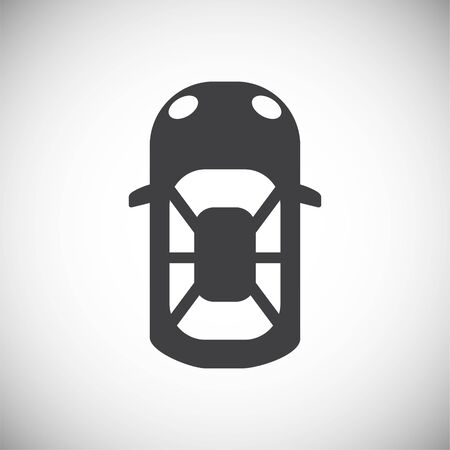 Car top view icon on background for graphic and web design. Simple illustration. Internet concept symbol for website button or mobile app 矢量图像