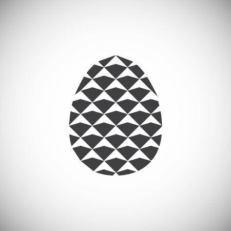 Icône de pomme de pin sur fond pour la conception graphique et web. Illustration simple. Symbole de concept Internet pour le bouton de site Web ou l'application mobile