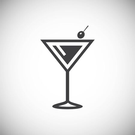 Cocktail related icon on background for graphic and web design. Simple illustration. Internet concept symbol for website button or mobile app