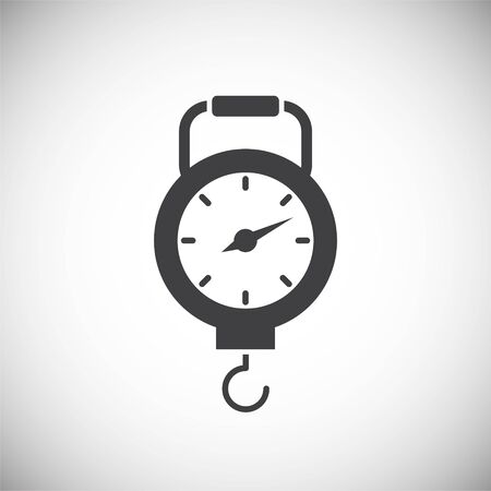 Measuring tool icon on background for graphic and web design. Simple illustration. Internet concept symbol for website button or mobile app Illustration