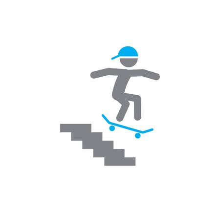 Skateboarding related icon on background for graphic and web design. Simple illustration. Internet concept symbol for website button or mobile app