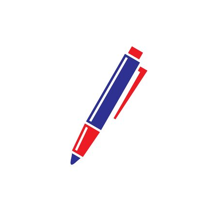 Pen icon on background for graphic and web design. Simple illustration. Internet concept symbol for website button or mobile app Illustration