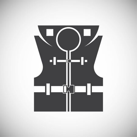 Life vest icons set on background for graphic and web design. Simple illustration. Internet concept symbol for website button or mobile app