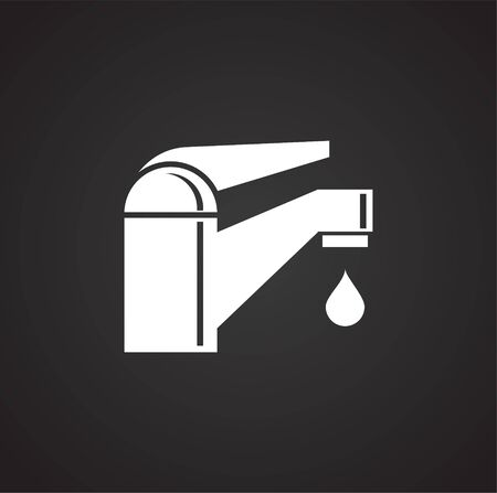 Faucet related icon on background for graphic and web design. Simple illustration. Internet concept symbol for website button or mobile app Vectores