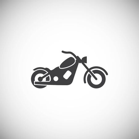 Moto related icon on background for graphic and web design. Simple illustration. Internet concept symbol for website button or mobile app