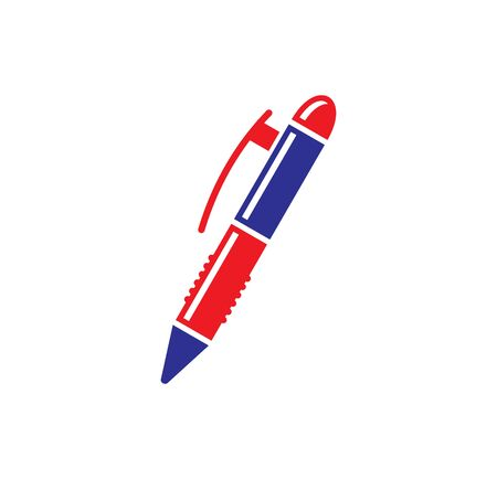 Pen icon on background for graphic and web design. Simple illustration. Internet concept symbol for website button or mobile app 向量圖像
