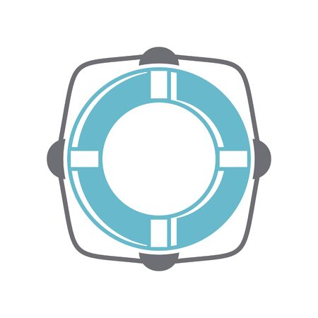 Life buoy icon on background for graphic and web design. Simple vector sign. Internet concept symbol for website button or mobile app