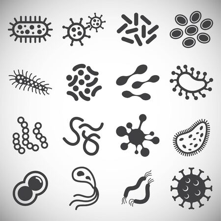 Cells icons set on background for graphic and web design. Simple illustration. Internet concept symbol for website button or mobile app