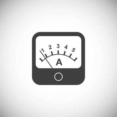 Measuring tool icon on background for graphic and web design. Simple illustration. Internet concept symbol for website button or mobile app Vector Illustration
