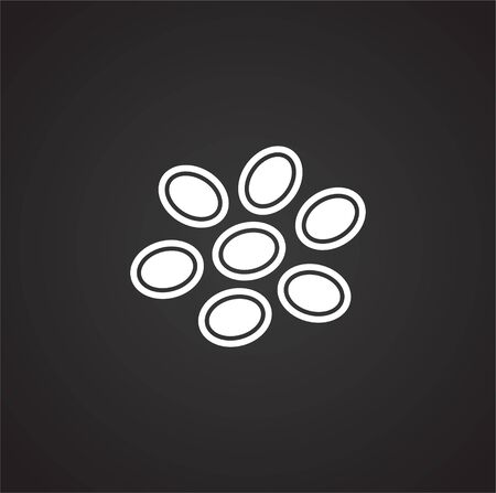 Cell icon on background for graphic and web design. Simple illustration. Internet concept symbol for website button or mobile app