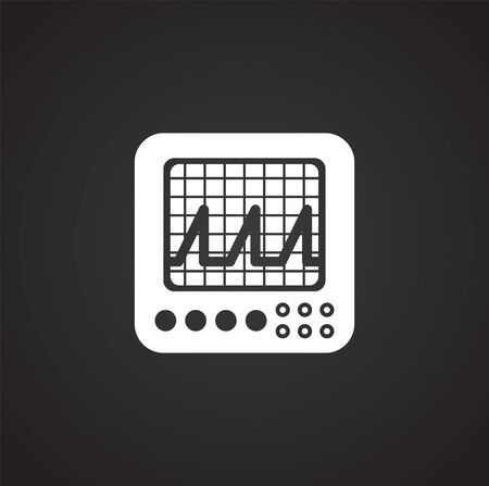 Measuring tool icon on background for graphic and web design. Simple illustration. Internet concept symbol for website button or mobile app