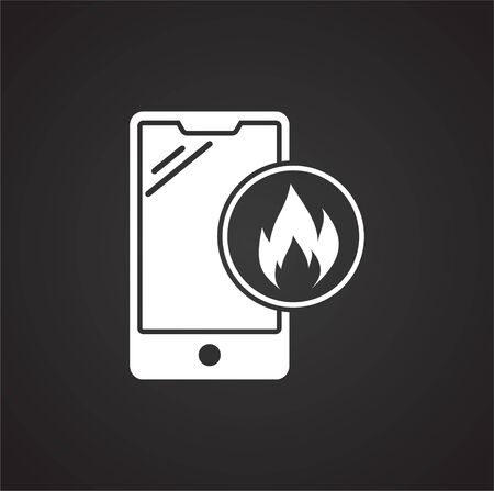Smartphone service related icon on background for graphic and web design. Simple illustration. Internet concept symbol for website button or mobile app