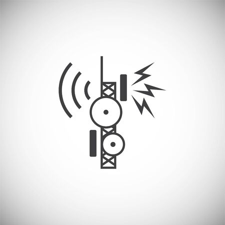 Antennas related icon on background for graphic and web design. Simple illustration. Internet concept symbol for website button or mobile app