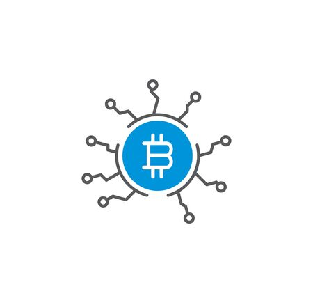 Financial technologie related icon on background for graphic and web design. Simple illustration. Internet concept symbol for website button or mobile app Иллюстрация