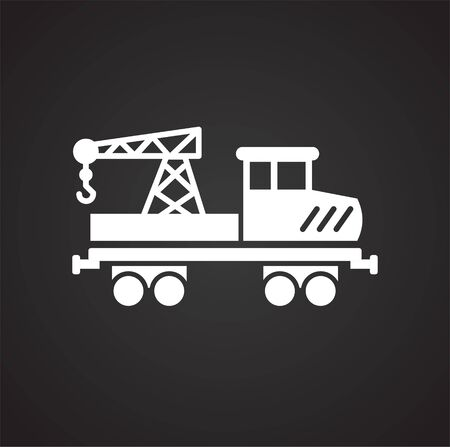Railroad related icon on background for graphic and web design. Simple vector sign. Internet concept symbol for website button or mobile app Stock Vector - 128215959