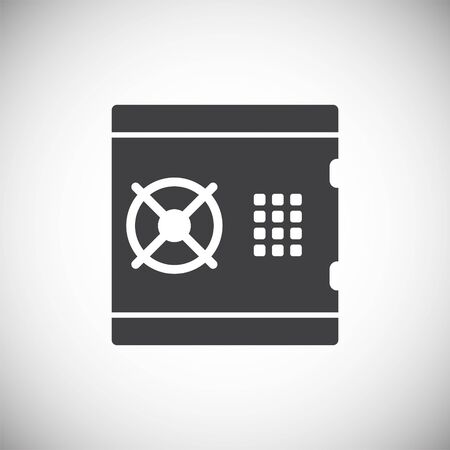 Money safe icon on background for graphic and web design. Simple illustration. Internet concept symbol for website button or mobile app