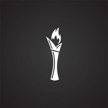 Torch icon on background for graphic and web design. Simple illustration. Internet concept symbol for website button or mobile app Векторная Иллюстрация