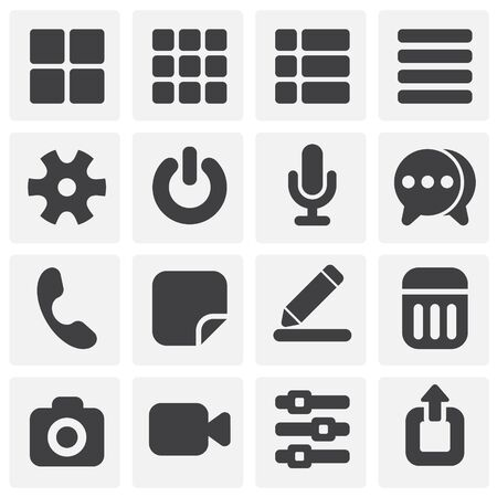 Option button icons set on background for graphic and web design. Simple illustration. Internet concept symbol for website button or mobile app Иллюстрация
