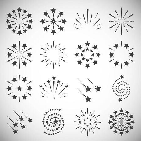 Sparkle icons set on background for graphic and web design. Simple illustration. Internet concept symbol for website button or mobile app