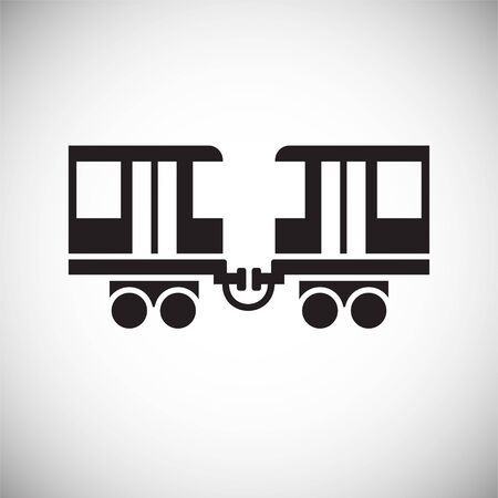 Railroad related icon on background for graphic and web design. Simple vector sign. Internet concept symbol for website button or mobile app