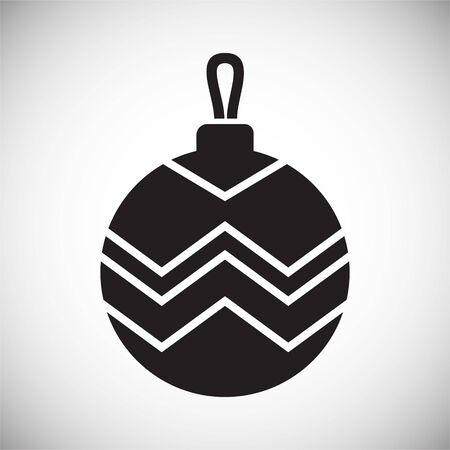 Christmas tree ball icon on background for graphic and web design. Simple vector sign. Internet concept symbol for website button or mobile app