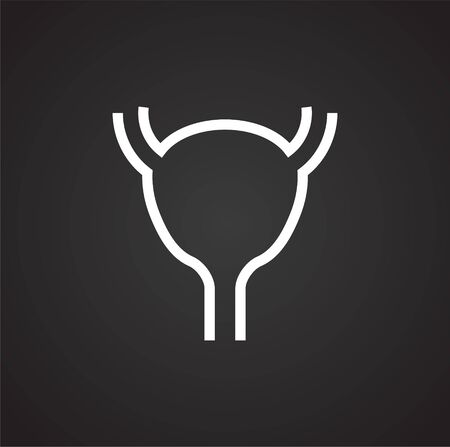 Human organ icon on background for graphic and web design. Simple illustration. Internet concept symbol for website button or mobile app