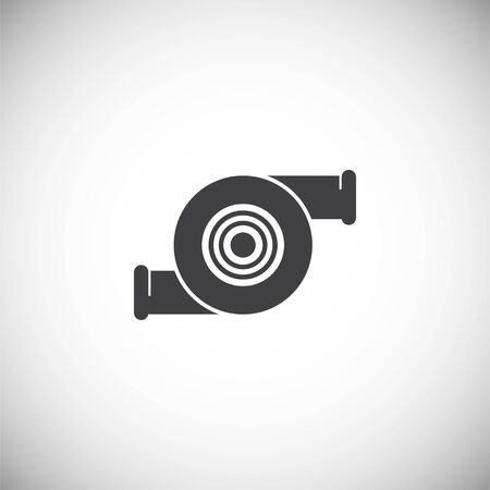 Car part related icon on background for graphic and web design. Simple illustration. Internet concept symbol for website button or mobile app Archivio Fotografico - 128751061