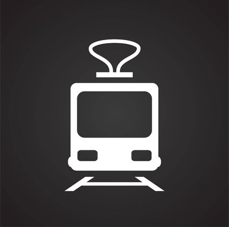 Transportation related icon on background for graphic and web design. Simple illustration. Internet concept symbol for website button or mobile app Ilustração