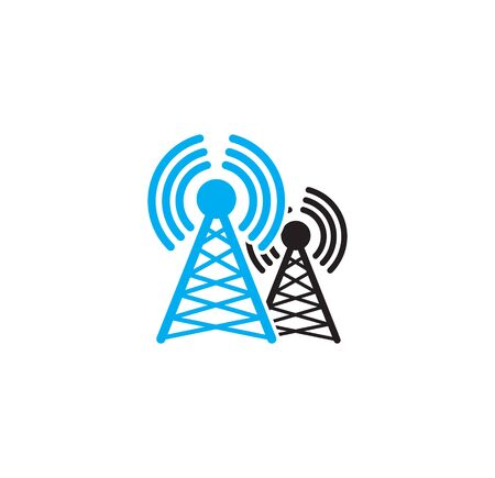 Antenna related icon on background for graphic and web design. Simple illustration. Internet concept symbol for website button or mobile app. Ilustração