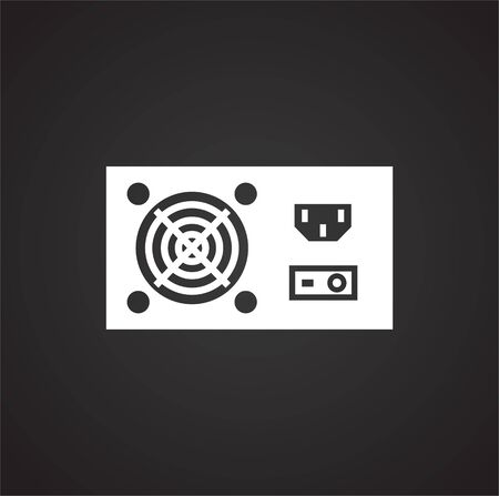 Computer hardware icon on background for graphic and web design. Simple illustration. Internet concept symbol for website button or mobile app Ilustração