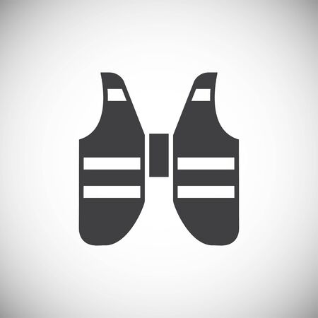 Life vest icons set on background for graphic and web design. Simple illustration. Internet concept symbol for website button or mobile app