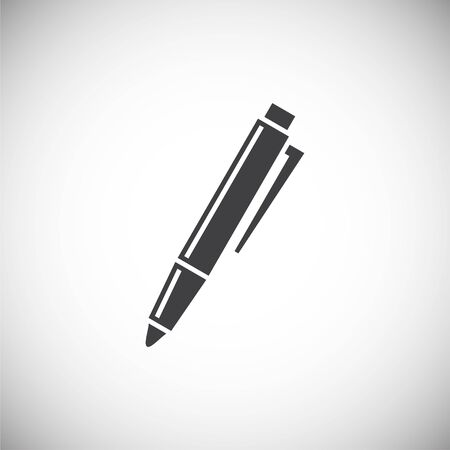 Pen icon on background for graphic and web design. Simple illustration. Internet concept symbol for website button or mobile app