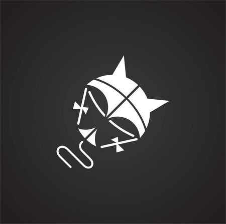 Kite icon on black background for graphic and web design. Simple vector sign. Internet concept symbol for website button or mobile app