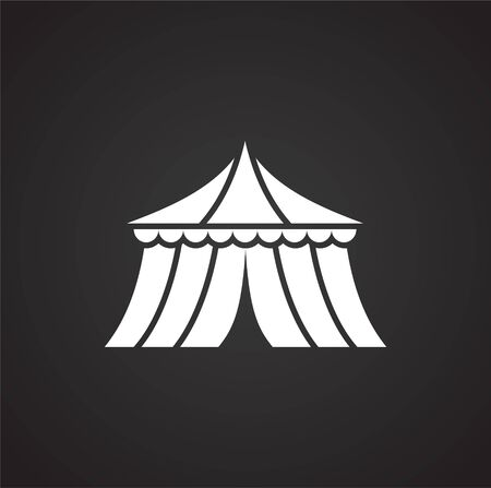 Circus related icon on background for graphic and web design. Simple illustration. Internet concept symbol for website button or mobile app