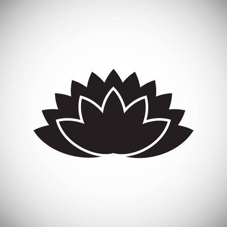 Lotus flower icon on background for graphic and web design. Simple vector sign. Internet concept symbol for website button or mobile app