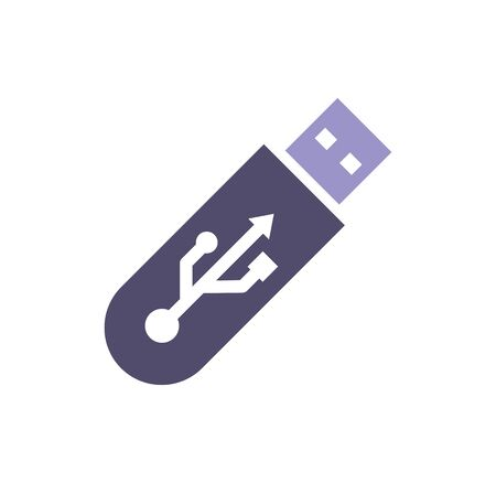 Computer hardware icon on background for graphic and web design. Simple illustration. Internet concept symbol for website button or mobile app Çizim